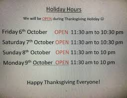 thai house cuisine on we are open for thanksgiving