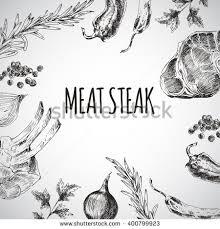 vector hand drawn barbecue restaurant menu stock vector 400799923
