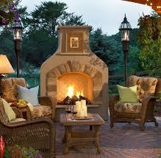 patio with fireplace binhminh decoration