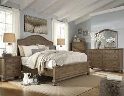 Larimer Upholstered Bedroom Set Trishley Light Brown Panel Bedroom Set From Ashley Coleman Furniture