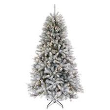 holiday time pre lit 7 5 u0027 winter frost pine artificial christmas