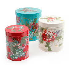 canisters for the kitchen the pioneer woman country garden 3 piece canister set walmart com