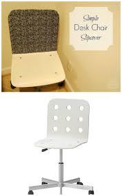 ikea chair slipcovers easy diy slipcover for ikea jules desk chair the borrowed