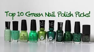 my top 10 green nail polish favorites 2015 sally hansen china
