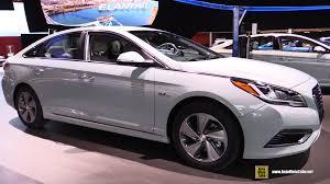 2016 hyundai sonata plug in hybrid exterior interior walkaround