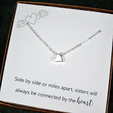 wedding necklace gifts images Long distance sister gifts best gift for sister bead charm jpg
