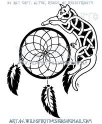 knotwork cat and dreamcatcher design by wildspiritwolf on deviantart
