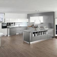 cuisine gris et cuisine gris clair et blanc cuisines grise design moderne