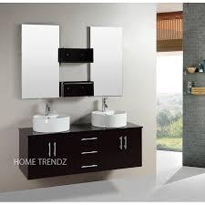 inch wall mounted double esprsso wood bathroom vanity include
