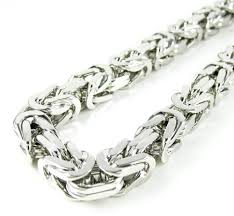 mens silver byzantine necklace images 925 white sterling silver byzantine link chain 36 inch 6 5mm jpg