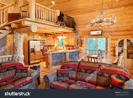 Log Cabin Furniture Interior Modern Log Cabin Stock Photo 133703444 Shutterstock