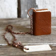 leather photo book miniature leather book necklace library of congress shop