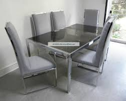 Glass Extendable Dining Table And 6 Chairs Dining Tables Hy Glass Extending Dining Table Modern