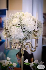 wedding flowers ta black white and gold candelabra centerpiece classic glam