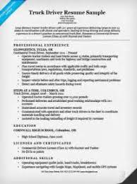 Resume Truck Driver Sample by Image Result For Cdl B Resume Sample Resume Templates Truck