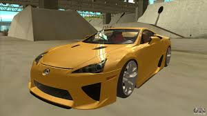 lexus hatchback modded lexus lfa autovista 2010 for gta san andreas