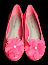 flower bow fuchsia kids flats w flower bow rhinestone