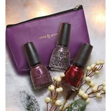 china glaze twinkle christmas trio gift set bringing in the season