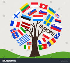 Football Flag Printing Set World Flag Tree Design Europe Stock Vector 653427361