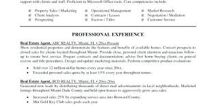 real estate sales agent resume no experience commercial broker