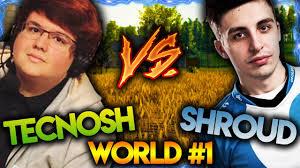 1 pubg player best pubg players in the world shroud vs tecnosh shroud and