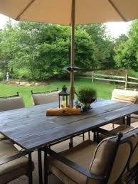 Glass Table Patio Set Makeover An Outdoor Table And Refresh Chairs Patio Table