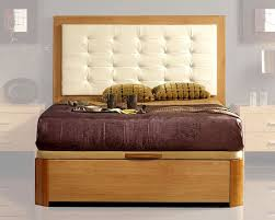 Modern Style Bed Style Bed In Maple Finish Made In Spain 33b22