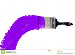 purple paint brush with purple paint stock photo 13932973 megapixl