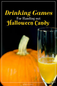 your official halloween night handing out candy drinking game