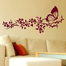 stencil tree wall wall designs bedroom wall butterfly