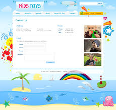 kids toys 9 page html site by dtbaker themeforest