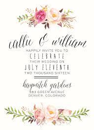 floral wedding invitations compl with vintage flower wedding