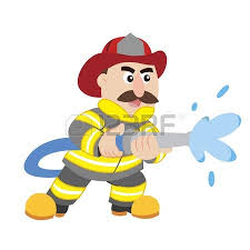 illustration cartoon fireman royalty free cliparts vectors