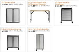 Gladiator Work Benches Deal Of The Day Gladiator Garage Storage Cabinets And A Workbench