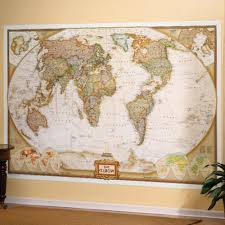 Wall Map Murals The Miracle Of World Map Wall Small Home Ideas