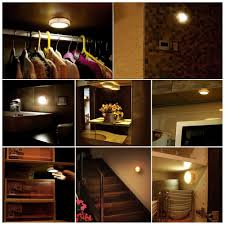 lunsy wireless led puck lights closet lights battery operated