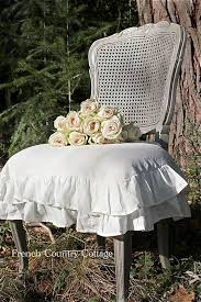 ruffled chair covers roses ruffles country cottage