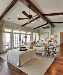 coastal ceiling fan living room traditional with vaulted ceiling