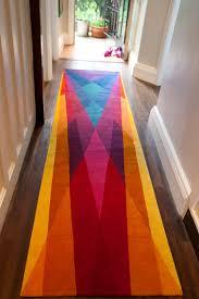 Modern Runner Rug Rainbow Runner By Sonya Winner A Stunningly Graphic