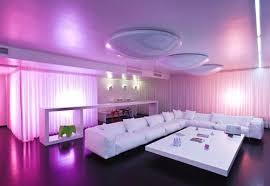 purple living room design