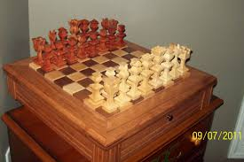 Cool Chess Boards by Hand Made Chess Board With Pieces By 4bz Customs Custommade Com