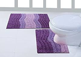 waves 2 piece purple lilac piece bath mat u0026 pedestal toilet rug