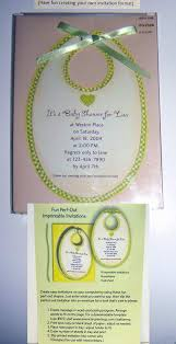 wholesale baby shower perf out printable invitations 8 pack