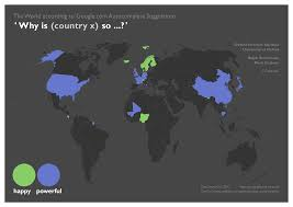 World Google Map by The World Through The Eyes Of A Search Algorithm