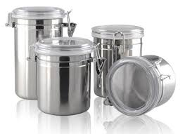online get cheap stainless steel kitchen canisters sets
