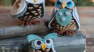 how to pinecone owls make