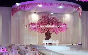 wedding stage decoration silk artificial cherry blossom trees for