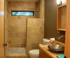 contemporary bathroom ideas on a budget use a half wall as part of the shower screen divider to allow for