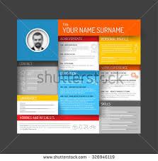 Cv Resume Format Vector Minimalist Cv Resume Template Dashboard Stock Vector