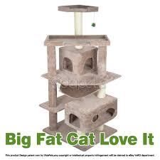 Cat Furniture Vidapets 71 U0026 034 Almond Black Beige Cat Tree Condo Furniture